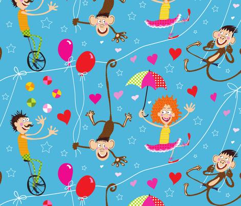 Circus Romance fabric by betje on Spoonflower - custom fabric