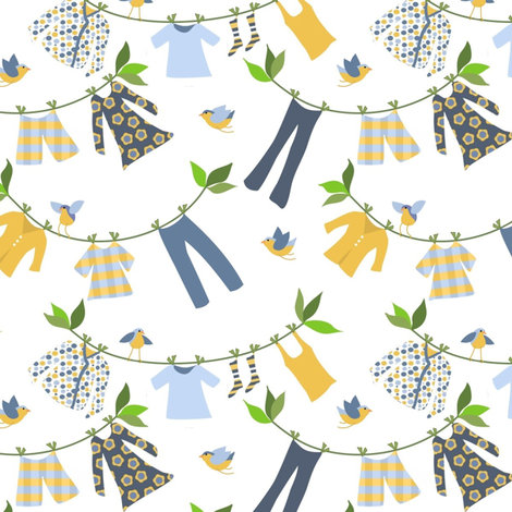 Laundry Day fabric by vo_aka_virginiao on Spoonflower - custom fabric