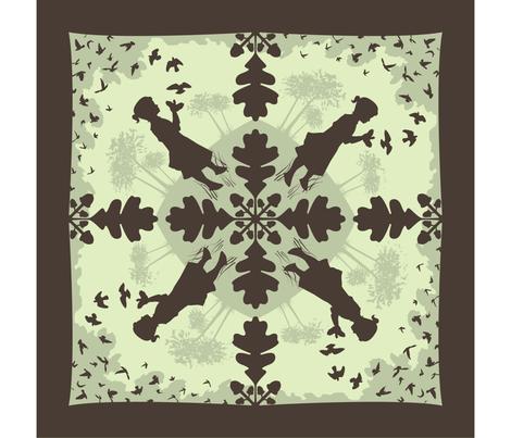 Hand Shadows Taking Flight fabric by kahoxworth on Spoonflower - custom fabric