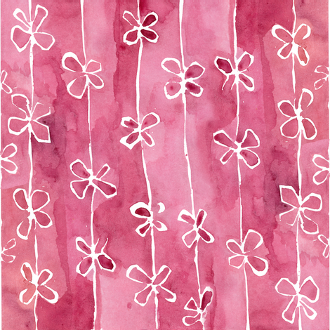 C'EST LA VIV™ White Bows on Rose fabric by @vivsfabulousmess on Spoonflower - custom fabric