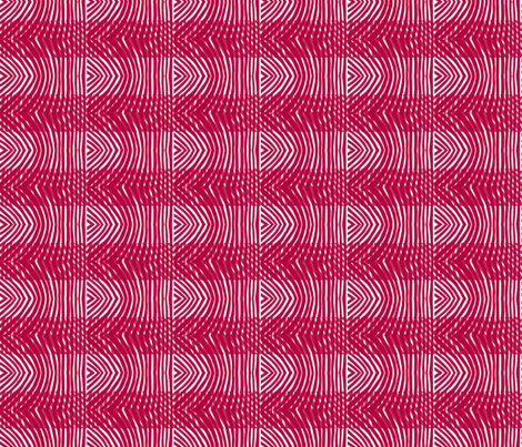Tiger moth stripe plaid in red and white fabric by su_g on Spoonflower - custom fabric