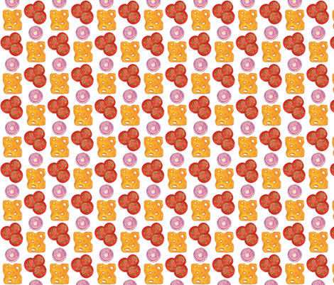 Topping Time (White) fabric by eppiepeppercorn on Spoonflower - custom fabric