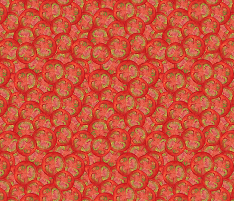Jumbo Fresh Tomato Jumble fabric by eppiepeppercorn on Spoonflower - custom fabric