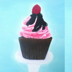Raspberry Chocolate Cupcake