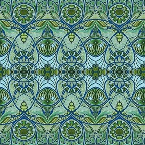 Victorian Gothic (aqua/olive negative)