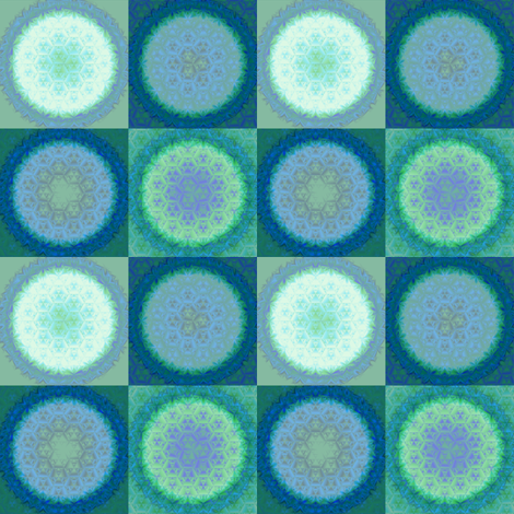 Frost Crystals in Blue Green © Gingezel™ 2011 fabric by gingezel on Spoonflower - custom fabric