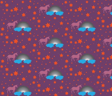 Unicorn 2 fabric by dolphinandcondor on Spoonflower - custom fabric