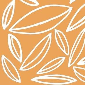 orange and white leaves