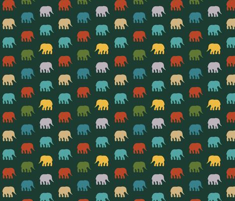 mini circus elephants fabric by scrummy on Spoonflower - custom fabric