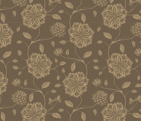 Floral Vines fabric by clairicegifford on Spoonflower - custom fabric