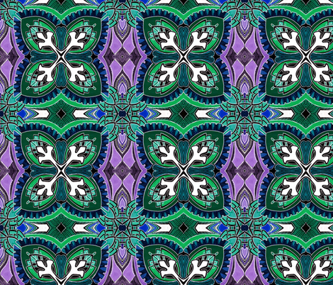 Square Two (midnight spring colors) large scale fabric by edsel2084 on Spoonflower - custom fabric