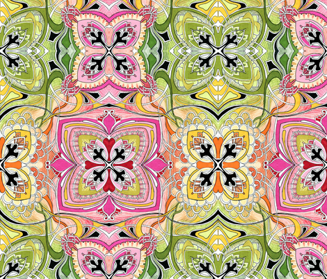Four Square (candy colors) large scale fabric by edsel2084 on Spoonflower - custom fabric
