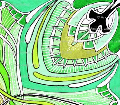 Square Three (green) medium scale