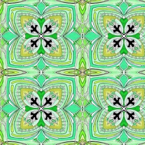 Square Three (green) medium scale