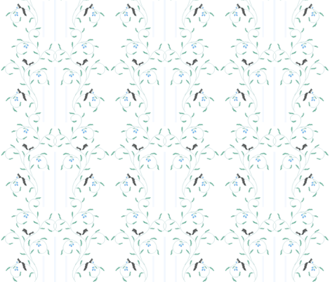 Squirrel Vine Stripes fabric by atomic_bloom on Spoonflower - custom fabric