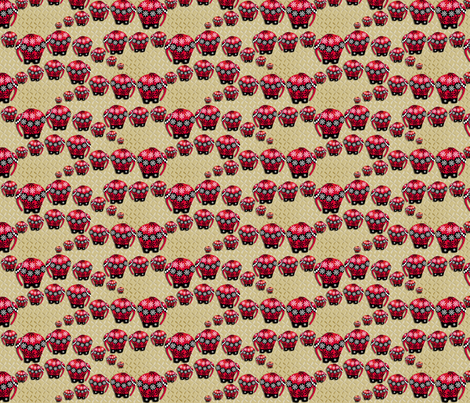 ©2011 LEPHANT fabric by glimmericks on Spoonflower - custom fabric