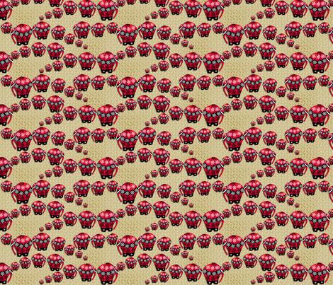 ©2011 LEPHANT fabric by glimmericks on Spoonflower - custom fabric