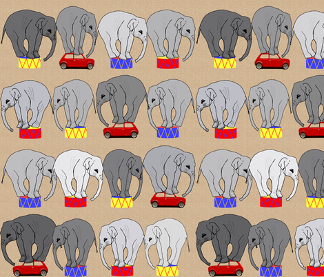The mini at the circus fabric by wiccked on Spoonflower - custom fabric