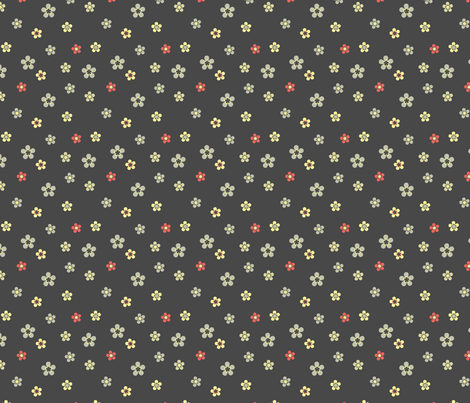 retro meadow fabric by ravynka on Spoonflower - custom fabric