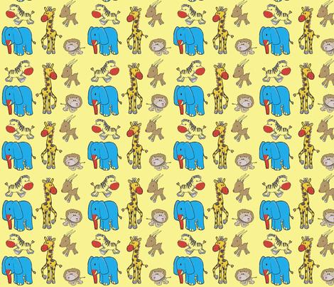 african animal clowns fabric by barakatblessings on Spoonflower - custom fabric