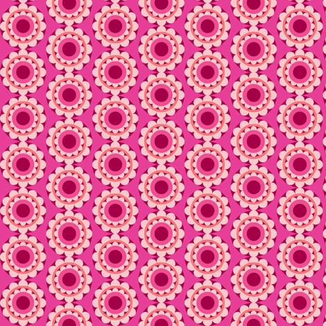 retroflower-darkpink fabric by lilliblomma on Spoonflower - custom fabric
