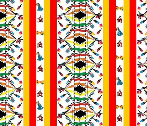 juggling in circus tent  fabric by raasma on Spoonflower - custom fabric