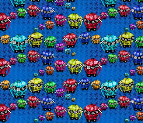 ©2011 Rainbow Elephants on Parade fabric by glimmericks on Spoonflower - custom fabric