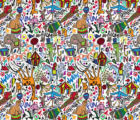 Animaltastic Circus fabric by gsonge on Spoonflower - custom fabric