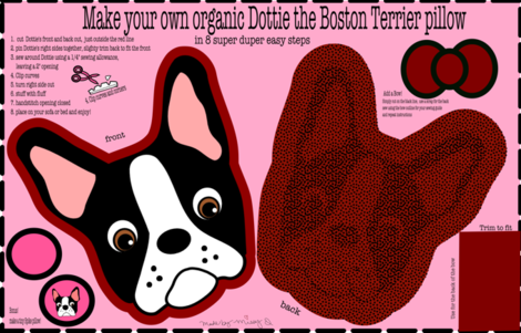 Dottie the Boston Terrier Pillow fabric by missyq on Spoonflower - custom fabric