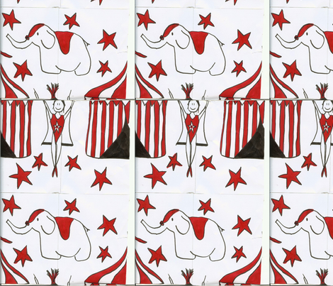 circus fabric by flygirl55 on Spoonflower - custom fabric