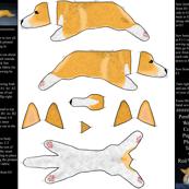 Cut and sew plush Pembroke Welsh Corgi puppy ©2011