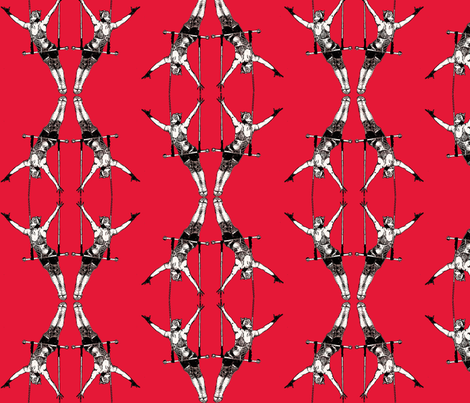 red trapeze fabric by wednesdaysgirl on Spoonflower - custom fabric