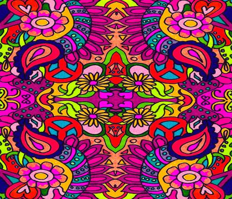 bold_bright_retro_mania fabric by charldia on Spoonflower - custom fabric