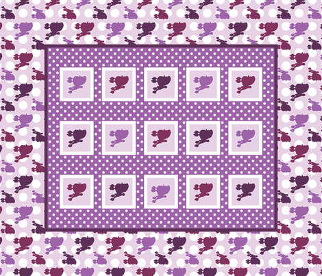 Poodle Polka Dot Baby Cheater Quilt fabric by robyriker on Spoonflower - custom fabric