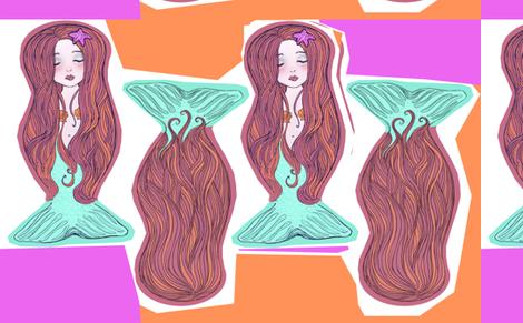 Mermaids_FatQuarter fabric by artistandrea on Spoonflower - custom fabric