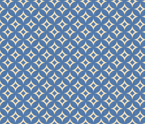 diamond_circles_blue fabric by holli_zollinger on Spoonflower - custom fabric
