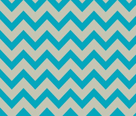Chevron april rain - blue and gray fabric by ravynka on Spoonflower - custom fabric