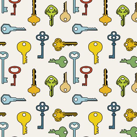 keys fabric by lauredesigns on Spoonflower - custom fabric