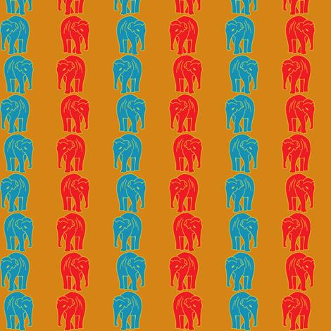 Indian Elephant Striped fabric by trafficjamas on Spoonflower - custom fabric