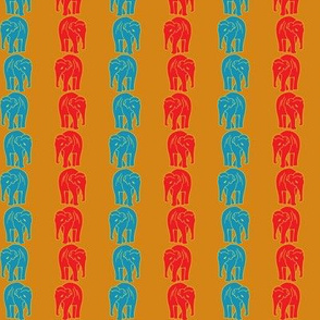 Indian Elephant Striped