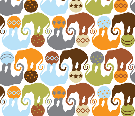 Elephants Having A Ball fabric by tracy_scott on Spoonflower - custom fabric