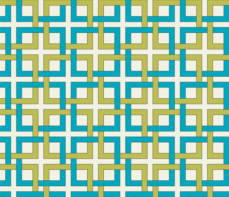 Interlocking squares - april rain fabric by ravynka on Spoonflower - custom fabric