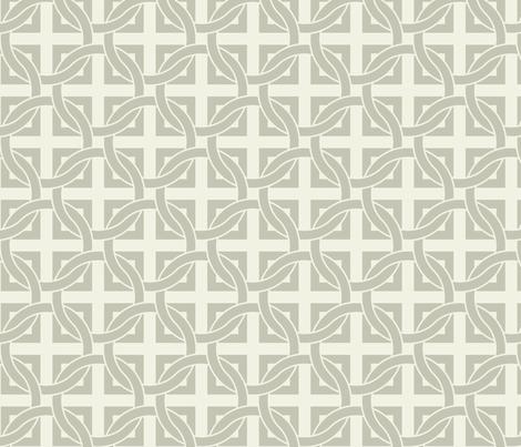 Interlocking circles - gray on white fabric by ravynka on Spoonflower - custom fabric