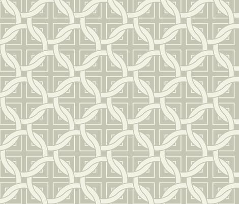 Interlocking circles - white on gray fabric by ravynka on Spoonflower - custom fabric