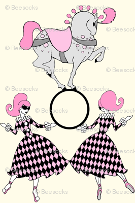Retro circus-Vanilla and Pink