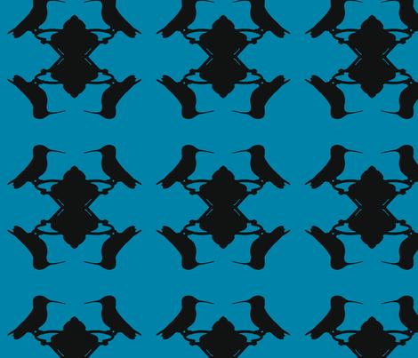 Hummingbird Blue fabric by relative_of_otis on Spoonflower - custom fabric