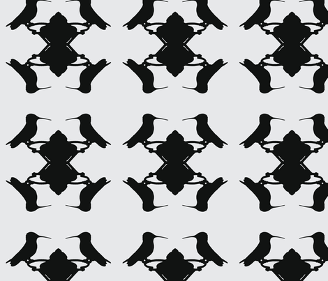 Hummingbird White fabric by relative_of_otis on Spoonflower - custom fabric