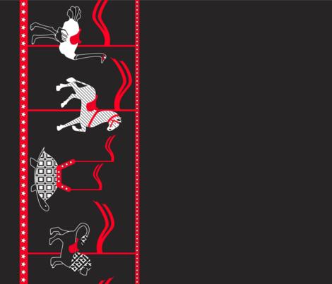 Safari-Go-Round border (please zoom) fabric by greenmyeyes on Spoonflower - custom fabric