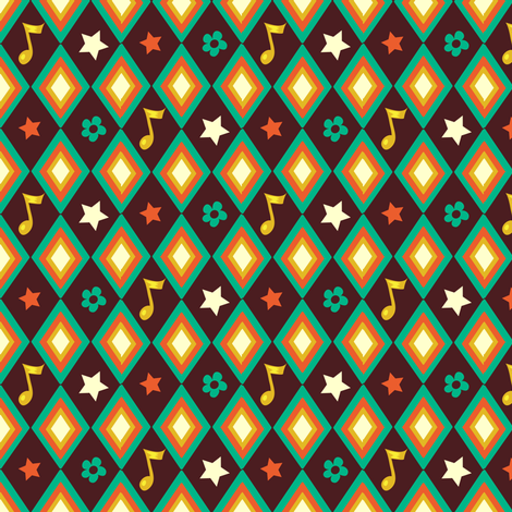 Circus pattern | brown fabric by irrimiri on Spoonflower - custom fabric