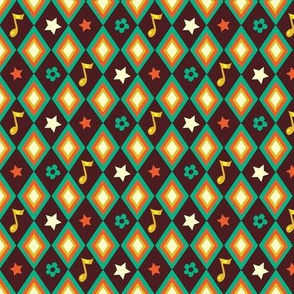 Circus pattern | brown
